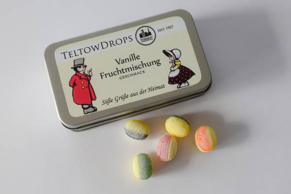 TeltowDrops | Vanille-Fruchtmischung | 90 g Dose