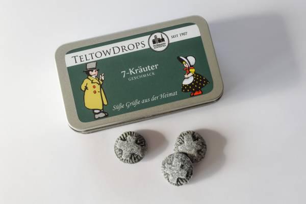 TeltowDrops | 7-Kräuter Bonbons | 90 g Dose