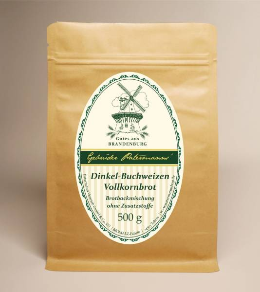 Dinkel-Buchweizen-Vollkornbrot | 500 g Tüte