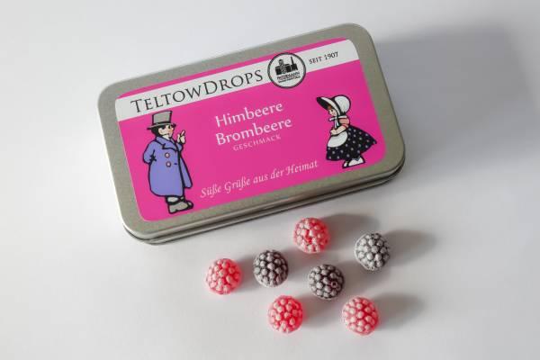 TeltowDrops | Him- und Brombeere Bonbons | 80 g Dose