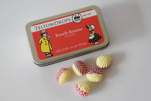 TeltowDrops | Kirsch-Banane Bonbons | 90 g Dose